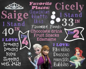 Saige & Cicely Chalk Poster